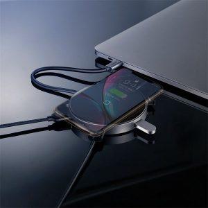 Hub chuyển Type C sang USB tích hợp sạc nhanh không dây Baseus 6 in 1 HUB